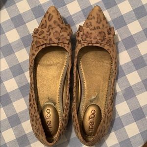 Me Too Leopard bow flats!